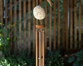 Wind Chimes Driftwood Beach Stone Large Copper Chimes windchimes