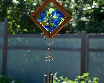 Wind Chime Sea Glass Cedar Copper Windchime Suncatcher Brass Chimes