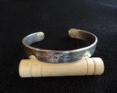 CUSTOM ORDER: Sterling Silver Darwin Fish Journey Engraved Bracelet