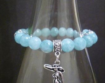 BB12-Light Blue Stretch Bracelet