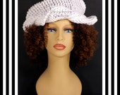 Antique White Crochet Hat Womens Hat Womens Crochet Turban Hat Crochet Beanie Hat Antique White Hat, Crochet Winter Hat, SAMANTHA Turban Hat