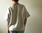LINEN BLOUSE  / natural / linen shirt / ecru / linen top / linen t shirt / women /linen clothing / made in australia / summer / pamelatang
