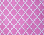 "Printed Felt Rectangle: Pink Trellis (9""x12"")"