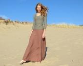 Organic Linen Essential Maxi Skirt