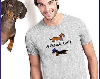 Dachshund T-Shirt Wiener Dad