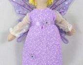 Purple Fairy Doll - Blonde Fairy Art Doll - Kids Toy Doll