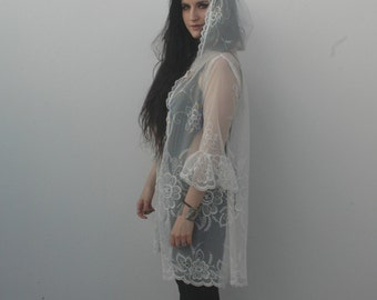 NEW FOR SPRING // murex // hooded lace tunic