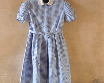 French 1950s Girl's Dress Size 6 to 7