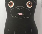Buddy - Pug noir grande peluche