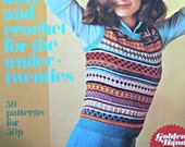 Knitting Patterns Crochet Patterns Golden Hands Special Knit and Crochet for the Under-Twenties Vintage Paper Original NOT a PDF