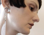 Damselfly wing dangle earrings for gauges plugs stretched lobes