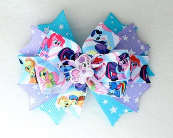 My Little Pony Hair Bow with Alligator Clip