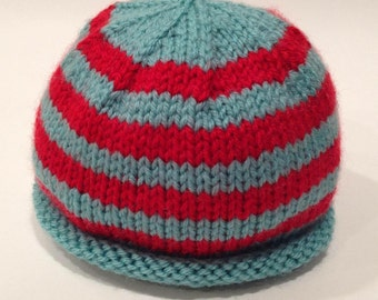 Striped Baby Hat - Custom Knit