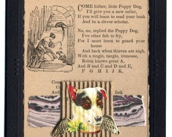 Pet Sympathy Card Come Hither, Little Puppy Dog