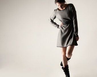 Sweater dress, Tunic dress, Wool dress, Womens dress, Wool tunic, Wool dress, Long sleeve dress, A-line dress, Modern tunic, Shift dress