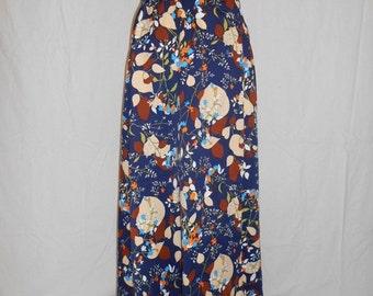 SALE Vintage 70's  skirt  floral  wrap around    long    maxi    hippie hippy boho bohemian folk