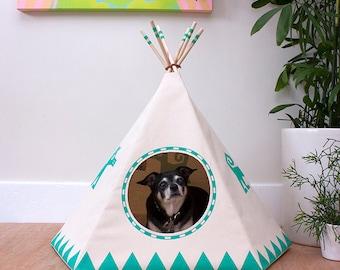 NightGlo Dog Teepee w/ bed, Dog House, Dog Bed, Dog Tipi, Pet Teepee