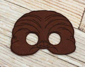 Chewbacca Mask - felt Chewbacca mask for Halloween, Dress-up, Chewbacca Halloween Mask, Chewbacca Halloween Costume, Star Wars Costume