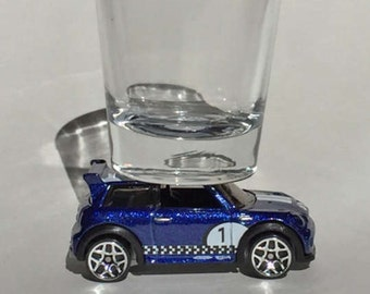 The ORIGINAL Hot Shot, Classic Hot Rods, Shot Glass, Mini Cooper S Challenger, Blue, Hot Wheels