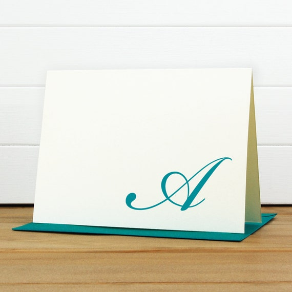 Personalized Stationery Set / Personalized Stationary Set - FLOURISH Custom Personalized Note Card Set - Monogram Formal Traditional