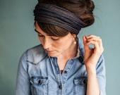 Stretch DENIM Headwrap Garlands of Grace headband headcovering hair wrap