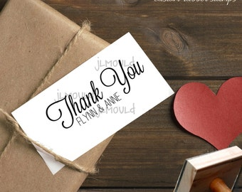 0132 JLMould Thank you Wedding Gift Custom Rubber Stamp perfect for Wedding Baby Showers Birthday Parties and more