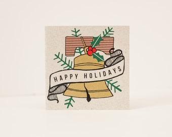 holiday card philadelphia card liberty bell