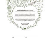 RESERVED for Stephen // Woodland Wedding Ketubah Marriage Certificate