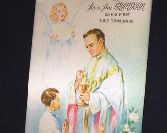 Vintage First Communion Greeting Card