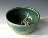 Small Mortar & Pestle, Pottery Pestle and Mortar, Green Mortar Pestle, Herb Grinder