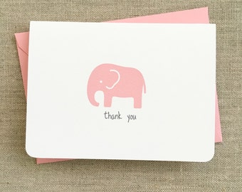 Elephant stationery set, personalized stationery for kids, stationary for kids, elephant note card, elephant thank you card, gift for baby