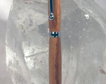 Handmade Chrome Canarywood Slimline Style Pen