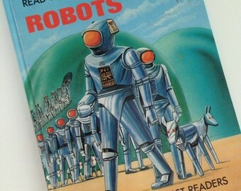 Vintage 1985 Brimax Now You Can Read About Robots Book
