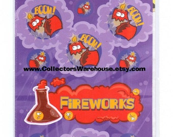 Dr. Stinky's Scratch n Sniff Stickers FIREWORKS the stink factory Series 3 NIP