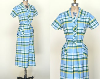 Vintage Day Dress --- 1950s Kay Whitney Dress