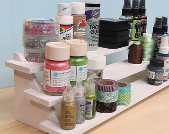 """Tiered Craft Shelf Organizer kit (18"""" wide)"""
