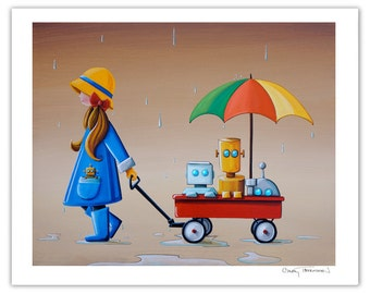 Robot Series Limited Edition - Just Another Rainy Day - Signed 8x10 Semi Gloss Print (3/10)