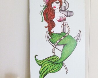 Pearl Mermaid - Illustration by Brenda Dunn from Portland, OR