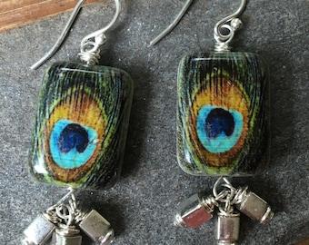 Sterling Miyuki Glass & Stone Earrings