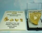 Libyan Desert Glass LOVE 8.9 Gram Heart Shape Tektite Impact Glass In Display Box From Egypt
