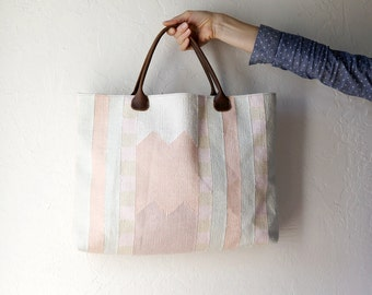 Summer SALE // Slim Tote in Geometric Pastels