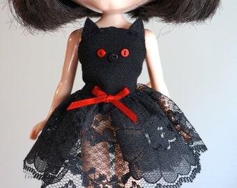BAT HALLOWEEN COSTUME dress for Blythe