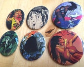 Set of 6 Horror Buttons!