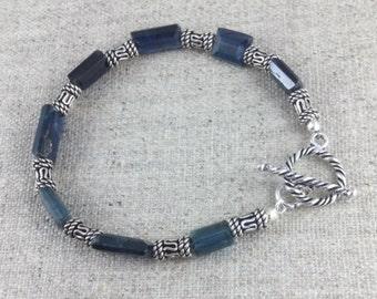 Kyanite & Sterling Silver Bracelet