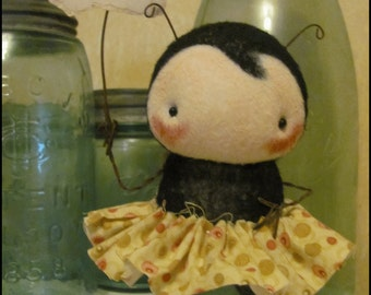 Ant #1 Auntie free-standing Doll Whimsical creepy cute country decor animal cottage chic Farm Quirky hafair ofg team