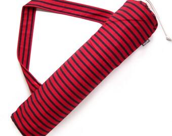 Yoga Mat Bag. Yoga Gifts. Red Navy Striped Yoga Bag. Yoga Mat Tote. Yoga Mat Holder. Yoga Accessories. Yoga Fashion. Yoga Lover Gift Idea