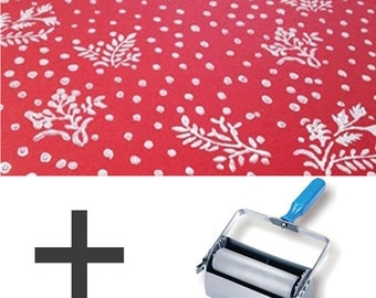2-Colours Pattern Paint Roller STARTER PACK - Floral Motifs