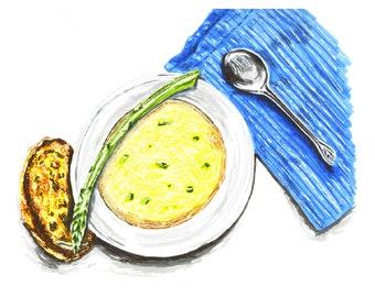 Asparagus Soup Sketchbook Series Marker Illustration