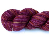 Glowing Embers Upgraded--hand dyed sock weight yarn, BFL superwash (655yds/150gm)