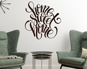 Perfect Beau Wall Decal Living Room, Home Sweet Home Decal Sign, Wall Decor, Vinyl